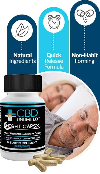 Night-CapsX help you enjoy a healthy & restful night of sleep