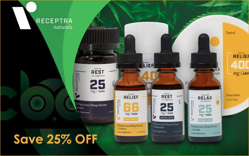 25% off Receptra Naturals Discount offer