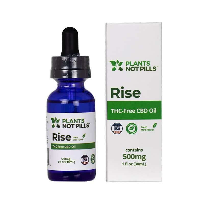 Rise THC-Free Organic CBD Oil (1 fl oz)